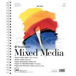 Strathmore - Strathmore Mixed Media Spiralli 200 Seri 160g 40 Sayfa 27.9x35.6cm