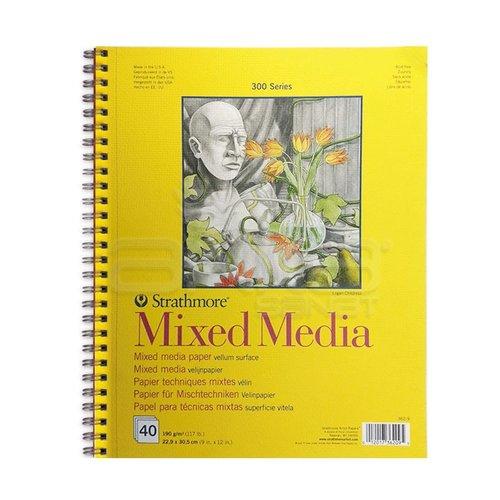 Strathmore Mixed Media Spiralli 300 Seri 190g 40 Sayfa 22.9x30.5cm