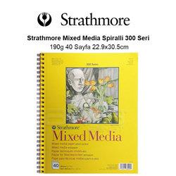 Strathmore Mixed Media Spiralli 300 Seri 190g 40 Sayfa 22.9x30.5cm - Thumbnail