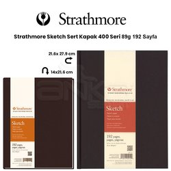 Strathmore - Strathmore Sketch Sert Kapak 400 Seri 89g 192 Sayfa