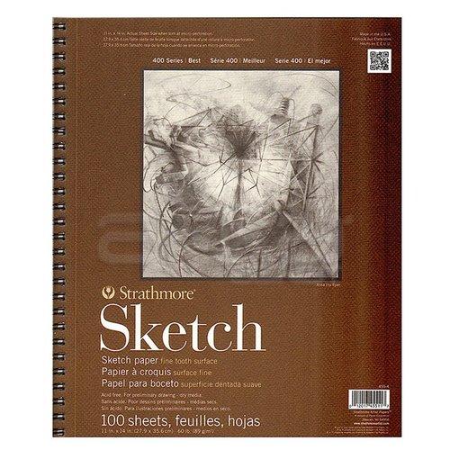 Strathmore Sketch Spiralli Blok 89g 100 Yaprak 400 Series