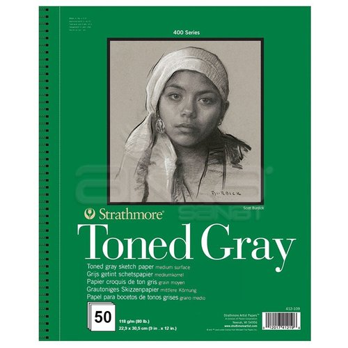 Strathmore Toned Gray Sketch Paper 400 Seri 118g 50 Yaprak 22.9x30.5cm