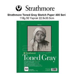 Strathmore Toned Gray Sketch Paper 400 Seri 118g 50 Yaprak 22.9x30.5cm - Thumbnail