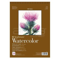 Strathmore - Strathmore Watercolor Cold Press Spiralli 12 Yaprak 300g 400 Series (1)
