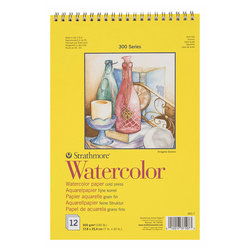 Strathmore - Strathmore Watercolor Cold Press Spiralli 12 Yaprak 300g 300 Series (1)