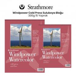 Strathmore Windpower Watercolor Cold Press 15 Yaprak 300g - Thumbnail