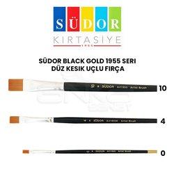 Südor - Südor Black Gold 1955 Seri Düz Kesik Uçlu Fırça