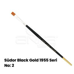 Südor Black Gold 1955 Seri Düz Kesik Uçlu Fırça - Thumbnail