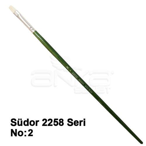 Südor 2258 Seri Düz Kesik Uçlu Kıl Fırça