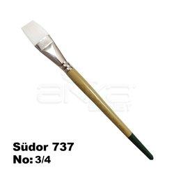 Südor 737 Seri One Stroke Sentetik Düz Kesik Uçlu Fırça - Thumbnail