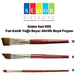 Südor - Südor Seri 995 Yan Kesik Yağlı Boya-Akrilik Boya Fırçası