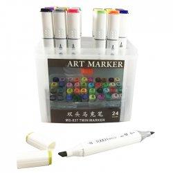 Anka Art - Superior Çift Uçlu Art Marker MS-837 24lü Set Plastik Kutu