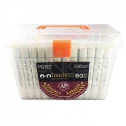 Anka Art - Superior Çift Uçlu Art Marker MS-837 60lı Set Plastik Kutu (1)