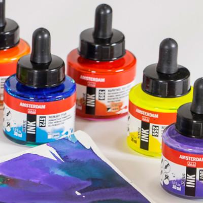 Talens Amsterdam Acrylic Ink 30ml Fosforlu Renkler