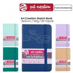 Art Creation - Talens Art Creation Sketch Book 9x14cm 140g 80 Yaprak Yeni Renkler