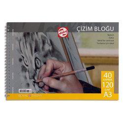 Talens - Talens Çizim Bloğu Spiralli 120g 40 Yaprak (1)