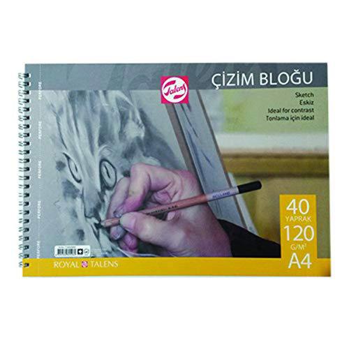 Talens Çizim Bloğu Spiralli 120g 40 Yaprak