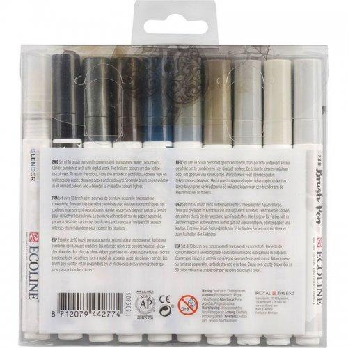 Talens Ecoline Brush Pen 10lu Set Gri Renkler 9805