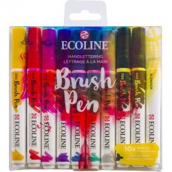 Talens Ecoline Brush Pen 10lu Set Kaligrafi 9800 - Thumbnail