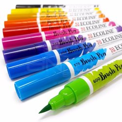 Talens - Talens Ecoline Brush Pen 10lu Set (1)