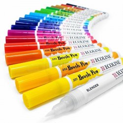 Talens - Talens Ecoline Brush Pen 20li Set 9004 (1)