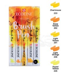 Talens - Talens Ecoline Brush Pen 5li Set Sarı Tonlar