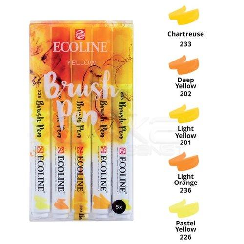 Talens Ecoline Brush Pen 5li Set Sarı Tonlar