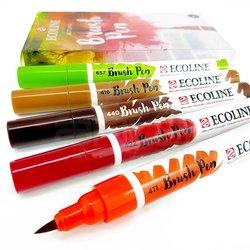 Talens - Talens Ecoline Brush Pen 5li Set Sonbahar Tonları (1)