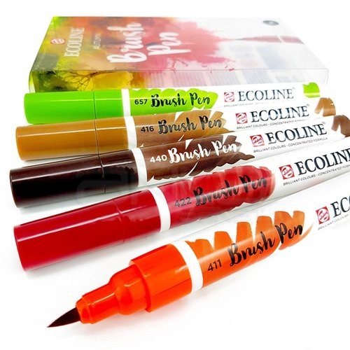 Talens Ecoline Brush Pen 5li Set Sonbahar Tonları