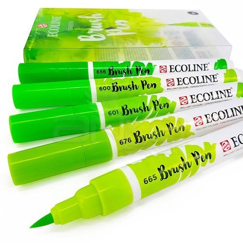 Talens Ecoline Brush Pen 5li Set Yeşil Tonlar