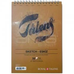 Talens - Talens Sketch Eskiz Defteri A5 50 Yaprak 90g Üstten Spiralli T090A550US (1)