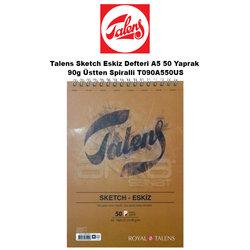 Talens - Talens Sketch Eskiz Defteri A5 50 Yaprak 90g Üstten Spiralli T090A550US