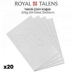 Talens - Talens Teknik Çizim Kağıdı 200g 20li Paket 35x50cm