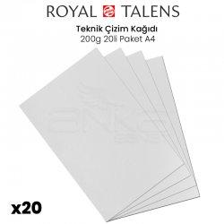 Talens - Talens Teknik Çizim Kağıdı 200g 20li Paket A4