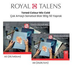 Talens - Talens Toned Colour Mix Cold Çok Amaçlı Sanatsal Blok 180g 50 Yaprak