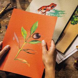 Talens - Talens Toned Colour Mix Warm Çok Amaçlı Sanatsal Blok 180g 50 Yaprak (1)