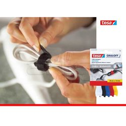 Tesa On&Off Kablo Toplayıcı Renkli 5li 20cmx12mm 55236-00000 - Thumbnail