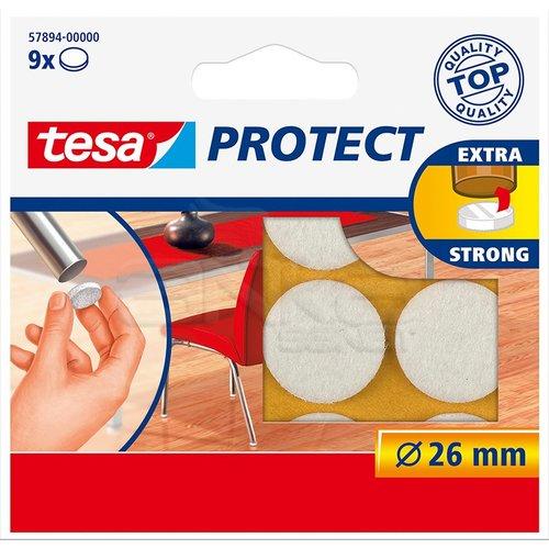 Tesa Protect Çizilmeyi Önleyici Keçe Beyaz 9lu 26mm 57894-00000