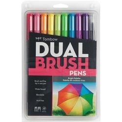 Tombow - Tombow Dual Brush Pen 10lu Bright Palette