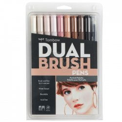 Tombow - Tombow Dual Brush Pen 10lu Portrait Palette
