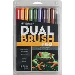 Tombow - Tombow Dual Brush Pen 10lu Secondary Palette