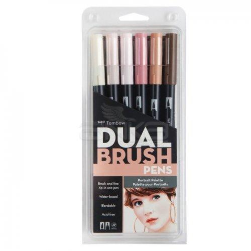 Tombow Dual Brush Pen 6lı Portrait Palette