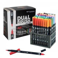 Tombow - Tombow Dual Brush Pen 96lı Set