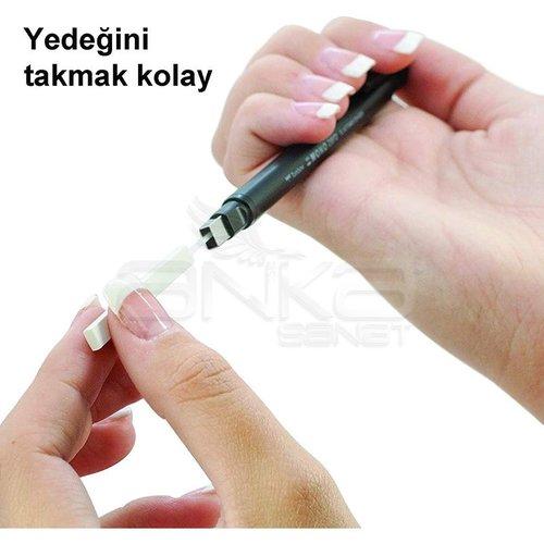 Tombow Mono Zero Kalem Silgi Yassı Uç Siyah 2.5x5mm