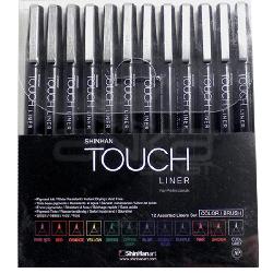 Touch - Touch Liner Brush Renkli 12li Fırça Uçlu Kalem Set SH4305012