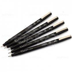 Touch - Touch Liner Teknik Çizim Kalemi 5li Set Siyah SH4100005 (1)