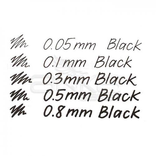 Touch Liner Teknik Çizim Kalemi 5li Set Siyah SH4100005