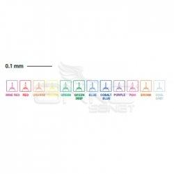 Touch - Touch Liner Teknik Çizim Kalemi 12li Set Renkli SH4301205 (1)
