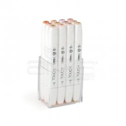 Touch Twin Brush Marker Kalem 12li Set Ten Renkleri - Thumbnail