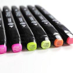 Touch - Touch Twin Marker Kalem 6lı Set Fluorescent Colors (1)